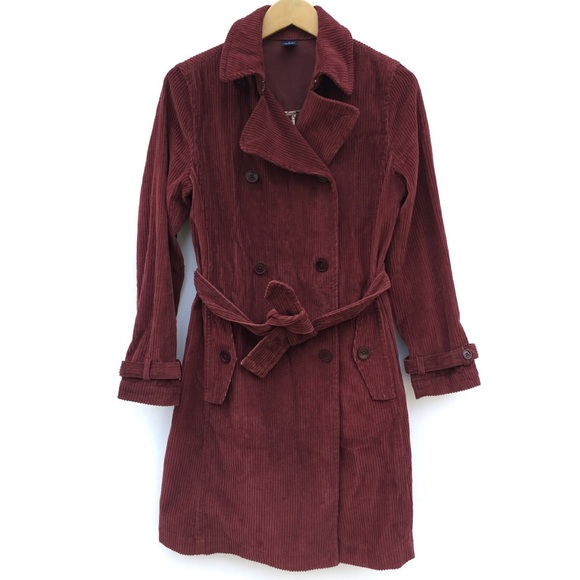 durable service variety design 60% clearance Burgundy Maroon Corduroy Trench Coat Jacket